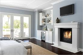 traditional master bedroom grey. Traditional Master Bedroom With Hardwood Floors, French Doors, Cement Fireplace, Crown Molding, Grey L