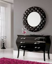 hall table and mirror. Modern Console Table And Mirror Set In Black 33C101 Hall