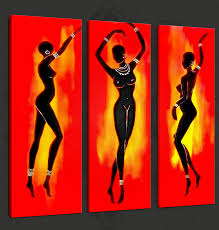 wall art ideas design abstract dancers african wall art three panels black red yellow images printing framed nails perfect homes african wall art  on african american wall art ideas with wall art ideas design abstract dancers african wall art three