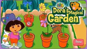 dora the explorer magical garden kids games s