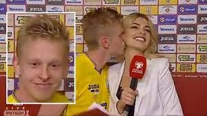 Beaming Manchester City Starlet Oleksandr Zinchenko Kisses Reporter After  Ukraine's Win - SPORTbible