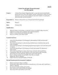 Job Description School Psychologist Selah School District