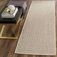 safavieh natural fiber marble beige 3 ft x 14 ft runner rug