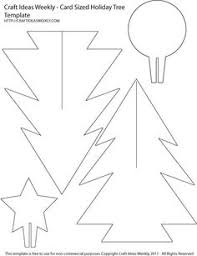 Card Sized Paper Christmas Tree Template -