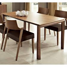 modern rectangular dining table in walnut