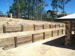 how to build a timber retaining wall landscape timber retaining wall image of simple timber sleeper