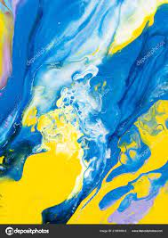 Blue Yellow Creative Abstract Hand ...