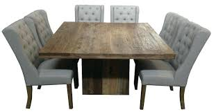 square wood dining tables. Modren Dining Dining Table Square Rustic Recycled Elm Wood High  Extendable And Chairs Inside Tables D