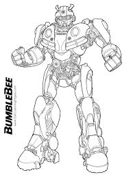 Bumblebee Movie Coloring Pages Getcoloringpagescom