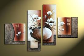 large oil paintings on canvas large wall canvas art set of four hand made painting white large oil paintings