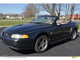 1999 Ford Mustang V6 Convertible in Dark Green Satin Metallic ...