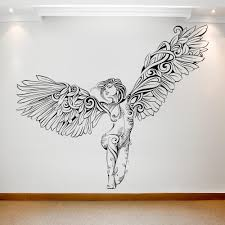 Shop for <b>vinyl wall decals Beautiful</b> sitting angel at a great price