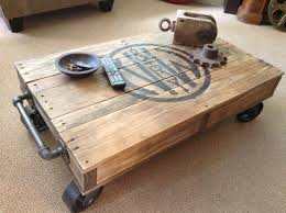 Mill Cart Coffee Table Industrial Railroad Coffee Table Cart