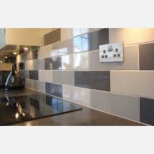 linear dark grey gloss wall tile