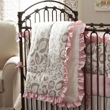 pink and taupe leopard crib bedding