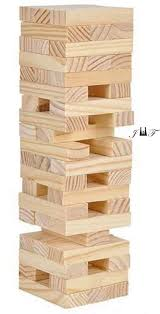 Games With Wooden Blocks Inspiration Amazon Tower Wood Block Stacking Game PLAY ANY TIME AND