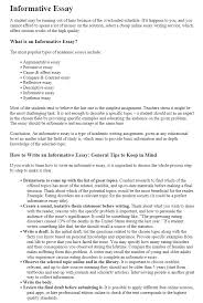 Essay Assignment Examples Informative Essay How To Make A Great Essay 500wordessay