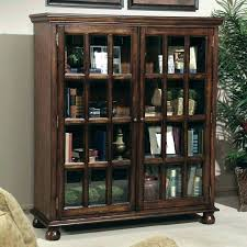 glass door bookcase white with doors bookcases medium image for sliding bookshelf wh