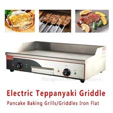 avantco electric countertop griddle stainless steel pancake baking grills griddles iron flat