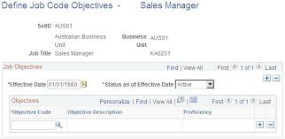 objectives for jobs assigning objectives to jobs and position numbers
