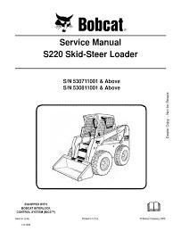 service manual bobcat s220 530711001 elevator switch