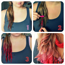 Temporary Color Tips Hair Pink Pastel