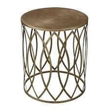 small round accent table small round metal
