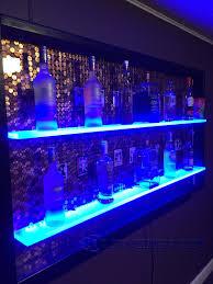 Floating Bar Shelves With Lights