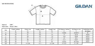 Gildan Ultra Cotton Size Chart Cm Best Picture Of Chart