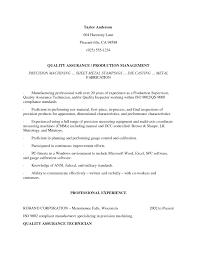 Sample Of Modern Resume For Quality Assurance Specialist Resume Quality Assurance Inspector Resume