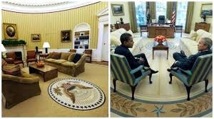 oval office rug. Oval Office Rug The Chosen By President Bush At Left Vs .