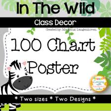 Hundred Chart Large Poster In The Wild Theme By Margaux