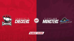 Charlotte Checkers Vs Cleveland Monsters Boplex