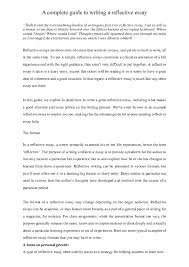 Example Of A Reflective Essay Doc A Complete Guide To Writing A Reflective Essay George