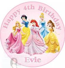 Disney Princess Cake Topper Personalised Edible Icing Sheet 75