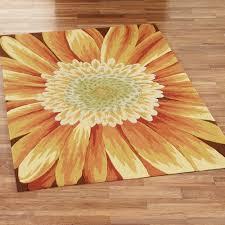 Sunflower Themed Kitchen Decor Sunflower Area Rugs