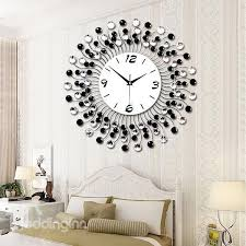 36 modern classic living room diamond decorative wall clock