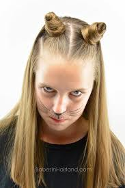 Cat Hair Style Cat Ears Using Your Own Hair 2 Halloween Hairstyle Babes In 4752 by stevesalt.us