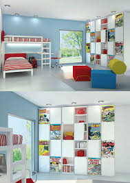 Kids Room Design: Comic Book Room - Boys Bedroom