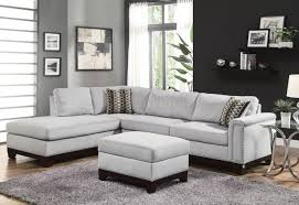 mason sectional sofa  in blue grey fabric by coaster