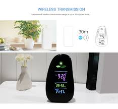 ygh392 cobblestone wireless weather forecast station indoor outdoor temperature humidity monitor alarm clock with remote