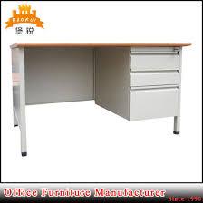 steel office desk. Metal And MDF Steel Office Desk Computer Table