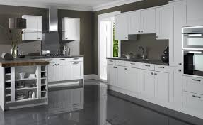 Kitchens With Gray Floors Grey And White Kitchens Kitchen Design White Subway Tile For