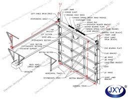sectional aluminum gl garage door panels