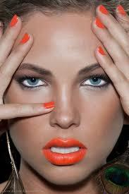 everyday makeup idea orange lips