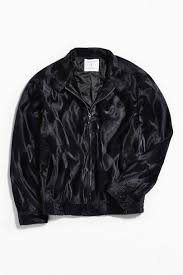 black jackets leather faux fur jackets urban outfitters mens barracuda micro faux fur jacket black