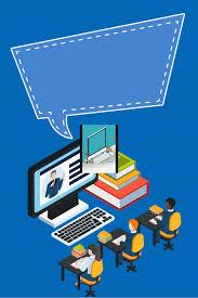 Blue Flat Computer Training Class Poster It Training