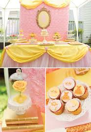 Belle Birthday Decorations Belle Inspired Princess Tea Party Birthday Be Our Guest Mermaid 4
