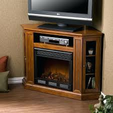 elegant corner tv stand fireplace for media console corner fireplace stand in brown mahogany 26 white