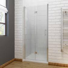 elegant frameless bifold shower door enclosure hinge door 6mm glass 5 sizes